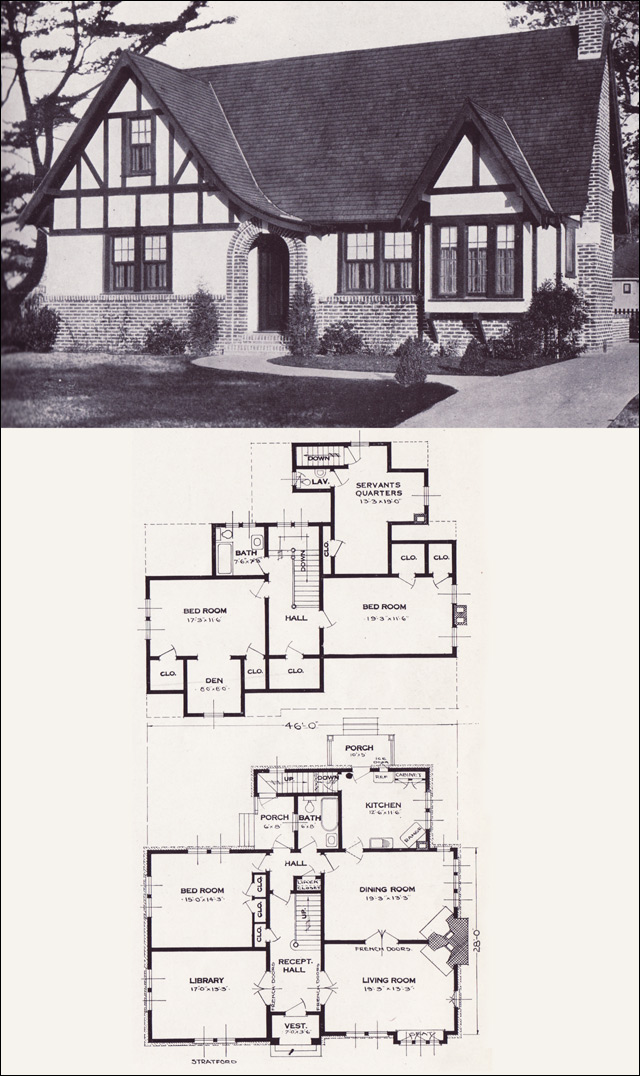 Tudor revival architecture scout realty co for Tudor home plans