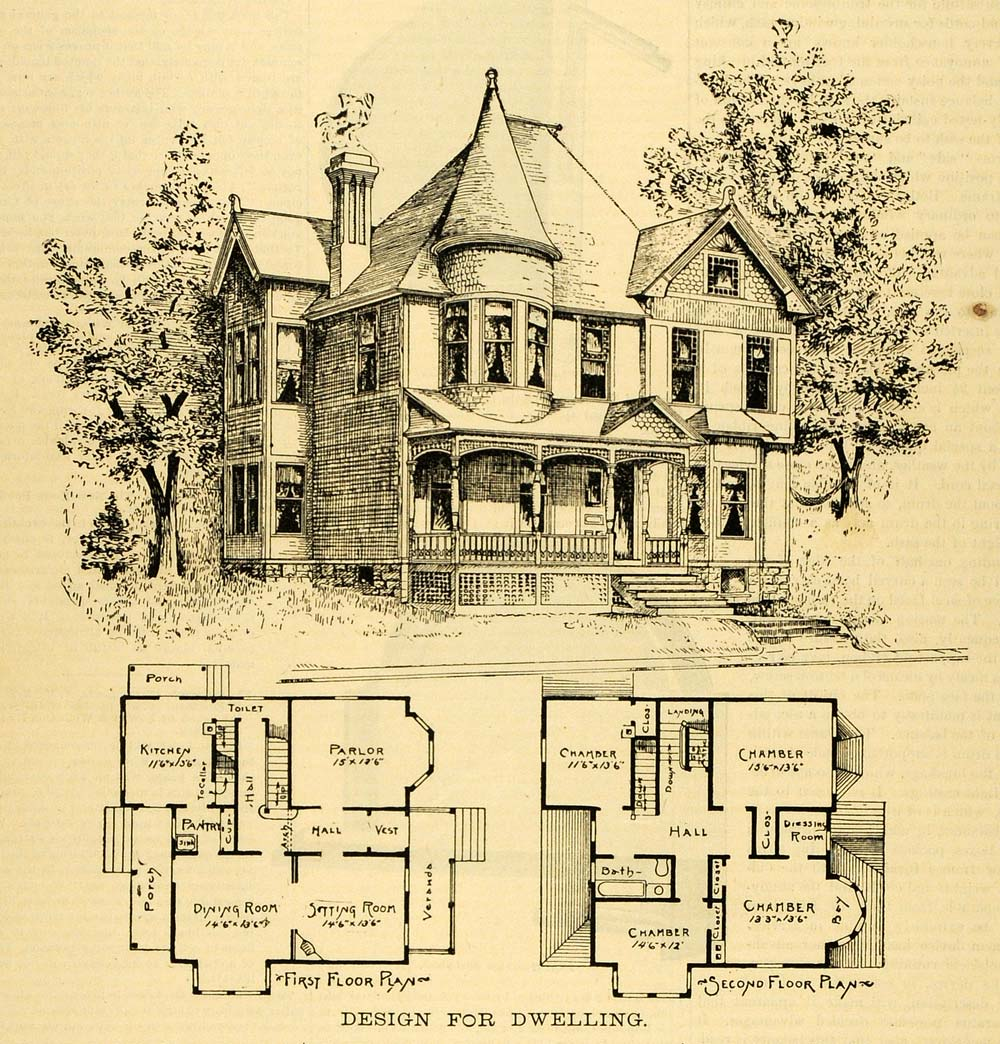 Victorian era architecture scout realty co for Historic farmhouse floor plans